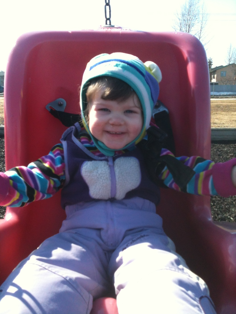 Antonia at the park